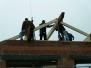 Aufbau Dachstuhl Gerätehausanbau